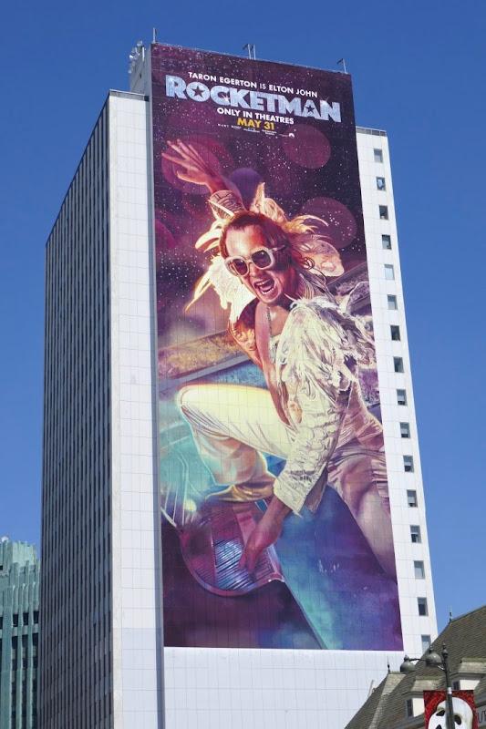 Giant Rocketman movie billboard
