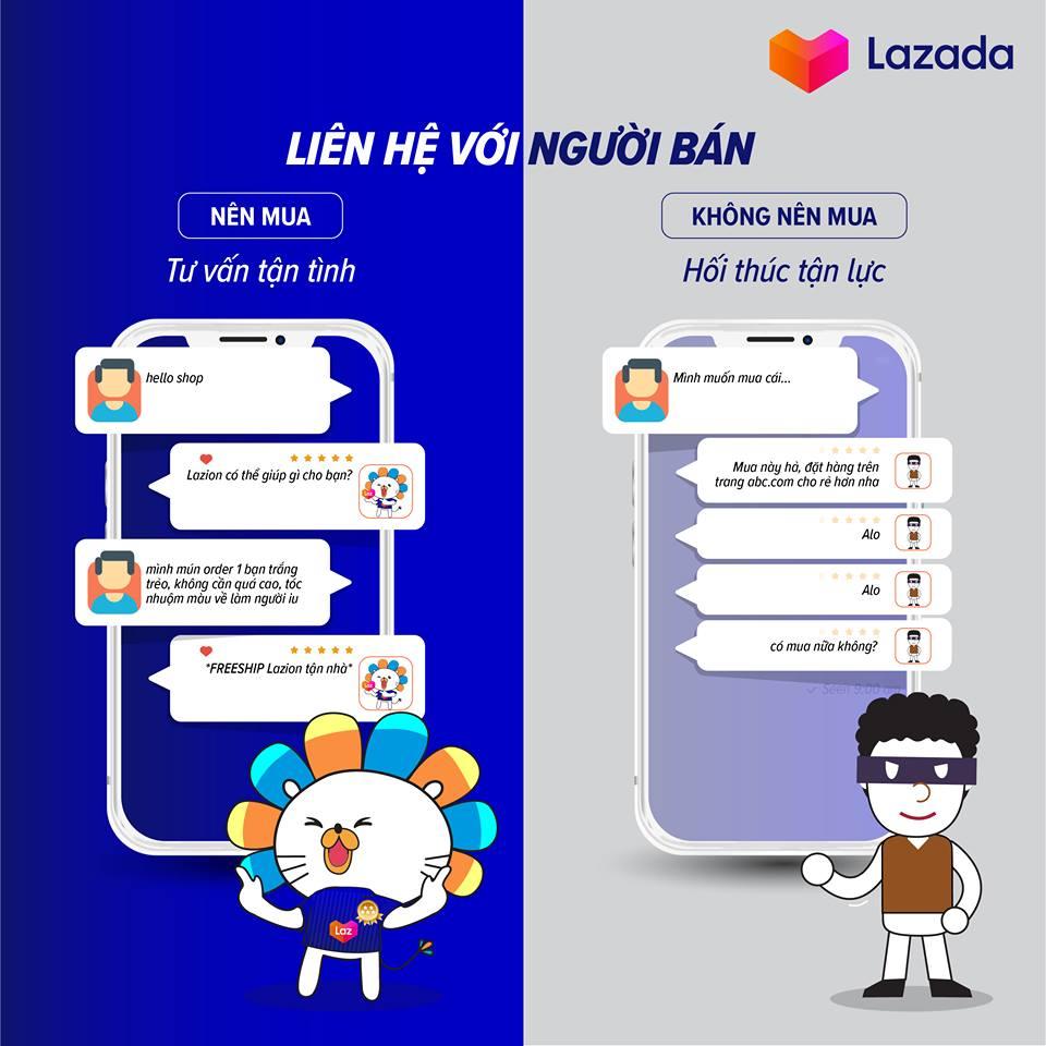 Chia sẻ kinh nghiệm mua hàng trên Lazada