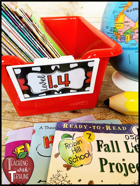 Really Good Stuff Labels for Classroom Library Bins