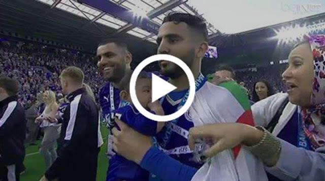 VIDÉO : Riyad Mahrez fête le sacre de Leicester avec le drapeau algérien