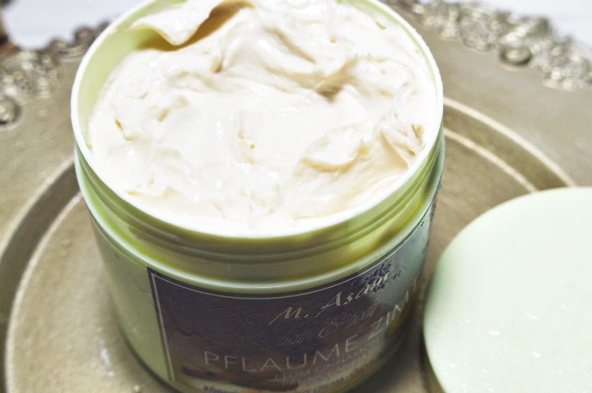 Plum & Cinnamon Body Cream Open Product