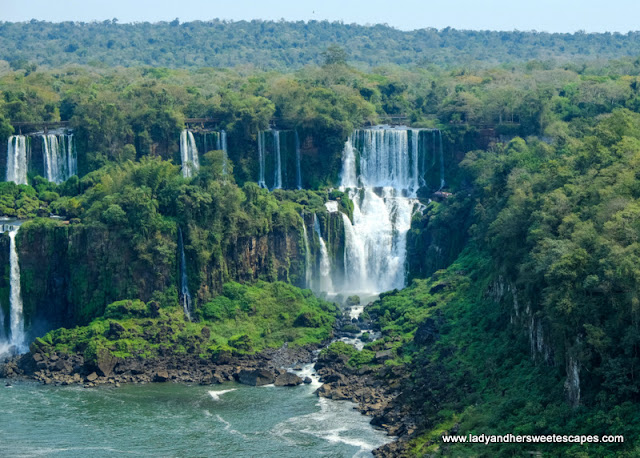 a closer look  at Iguacu Falls