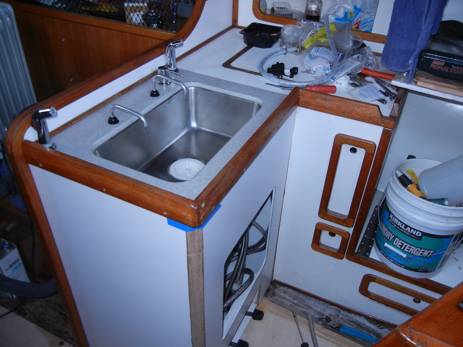 The Restoration Amp Upgrade Of A Choate 40 Galley Deck