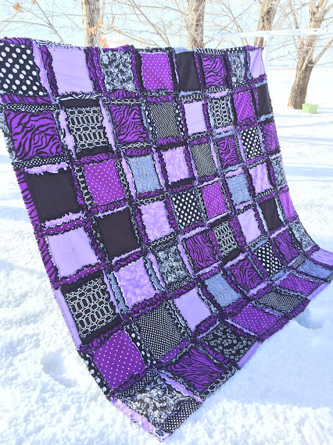 Twin Size Bedding Purple and Black