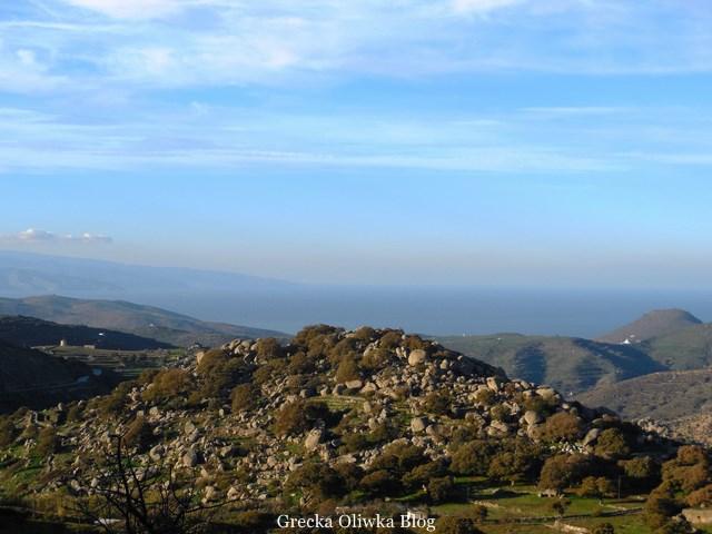 Wysiew głazów na wyspie Tinos, Volaks, Volakas