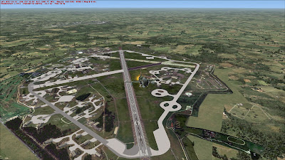 Aerial view of Lakenheath airbase FSX
