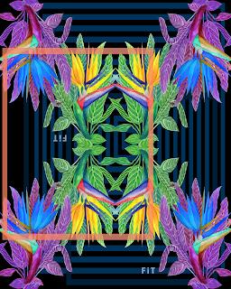 Paradise birds-blue TEXTILE REPEAT