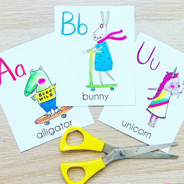 Animal ABC Products for Back to School by Baby Lucas