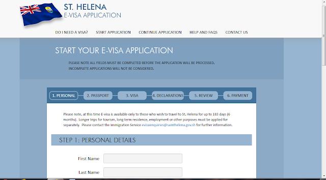 طلب فيزا سانت هيلينا أونلاين 2