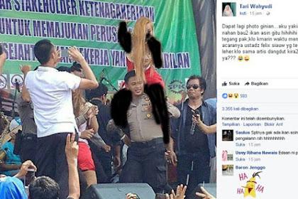 Astaghfirullah... Polisi Gendong Artis Seksi Sambil Goyang Viral di Medsos, Polisinya Aja Gini, Wajar Suka Bubarin Pengajian