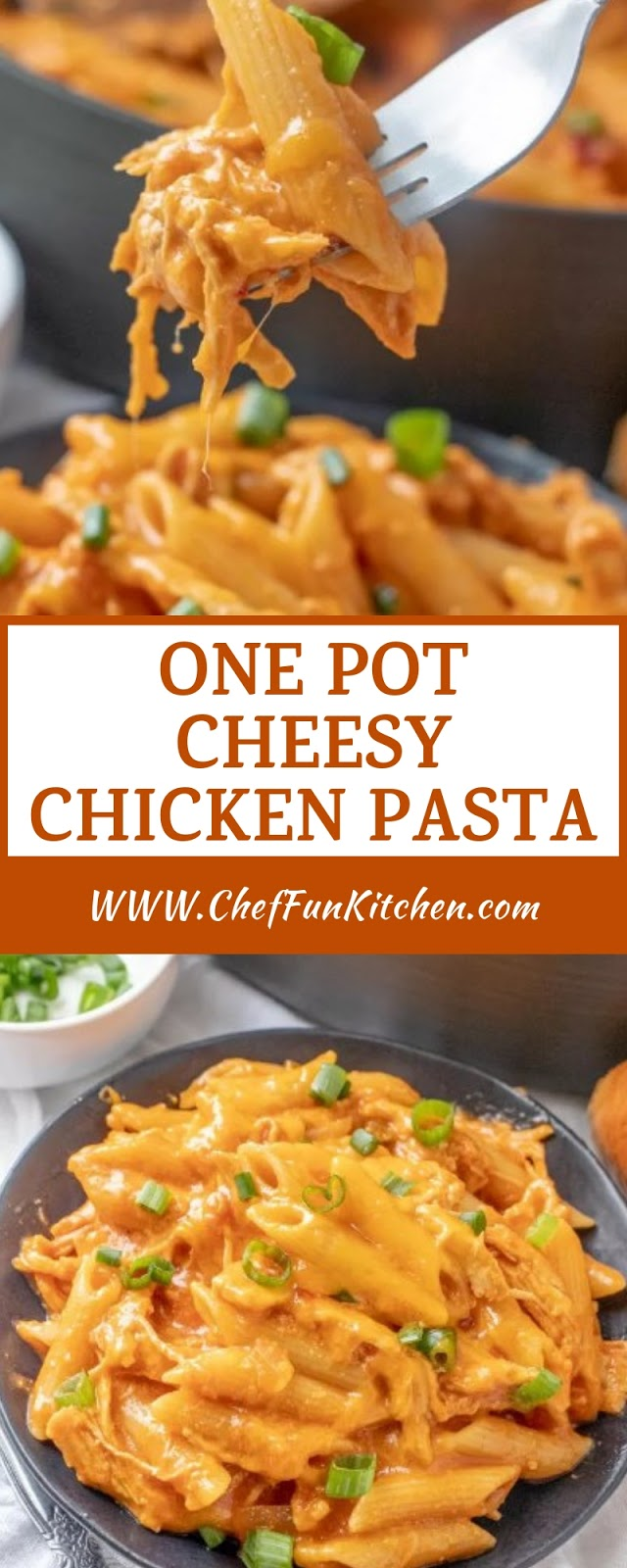 ONE POT CHEESY CHICKEN PASTA