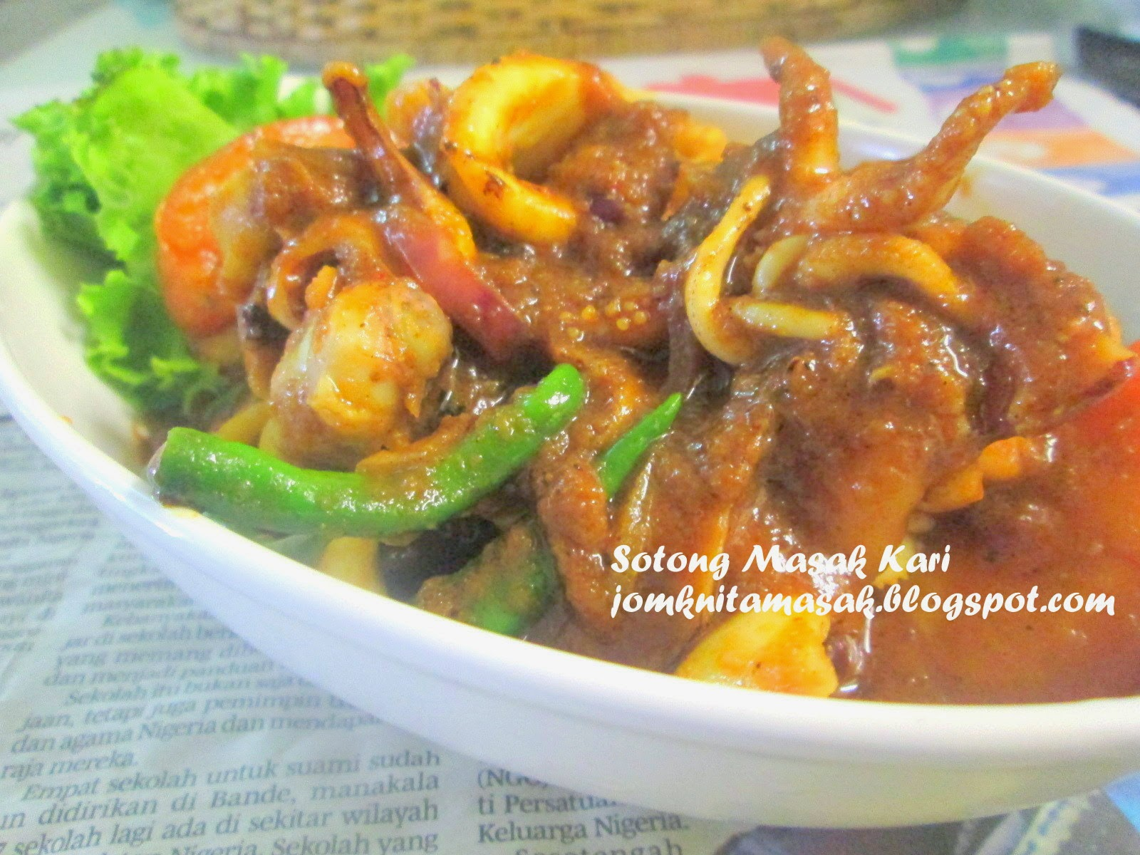 resepi sotong masak kari  mudah kari sotong aneka masakan enak resepi sotong bakar Resepi Roti Jala Untuk 2 Orang Enak dan Mudah