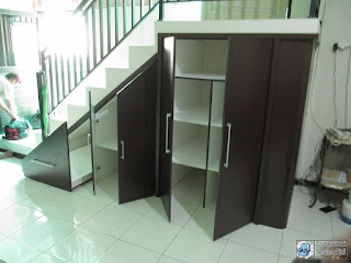 Semarang Furniture - Pesan Furniture Lemari Bawah Tangga Bahan Multiplek HPL