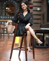 Captivating Nabha Natesh in Black HeyAndhra