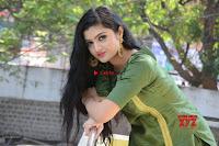 Akshitha cute beauty in Green Salwar at Satya Gang Movie Audio Success meet ~  Exclusive Galleries 027.jpg
