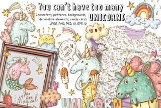 Doodle Unicorns and Patterns