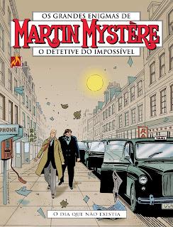 Capa da HQ Martin Mystère: O dia que não existia