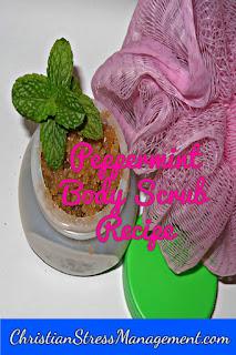 Peppermint body scrub recipe