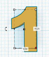Make numbers of the clock in Tinkercad