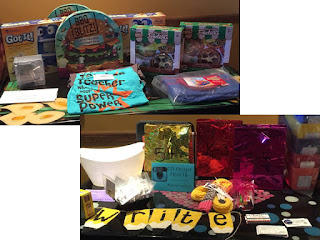 The prize giveaway table at the Colorado Meet-Up