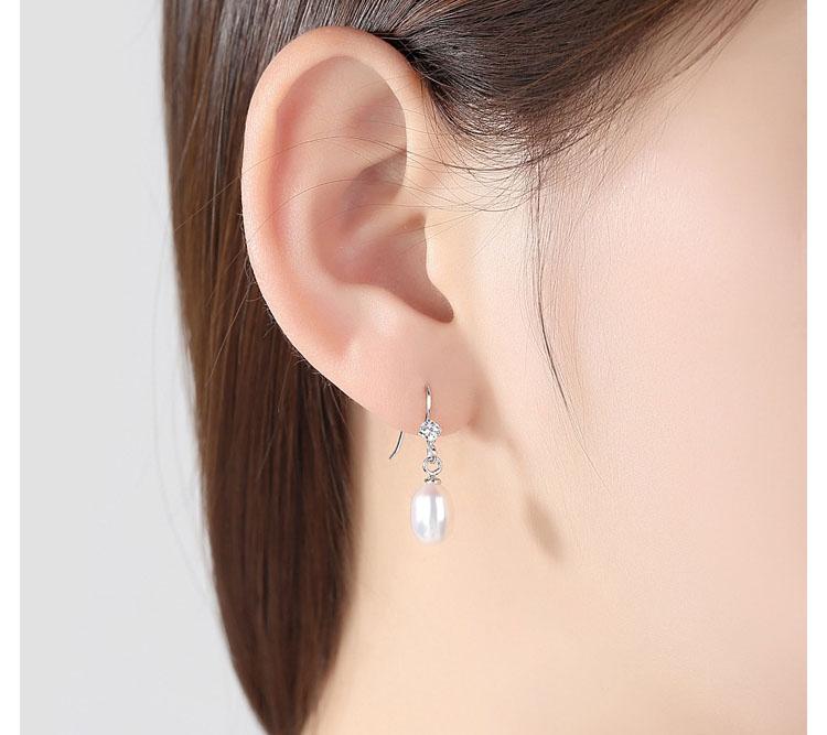 米蘭淡水真珍珠 925純銀耳環(只有紫色)