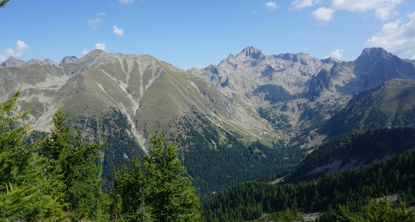 Cime du Gélas viewed from Mont Lapassé