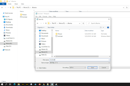 cara hidden folder di windows dengan script