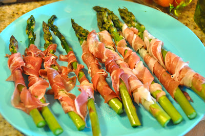 Simple ingredients make the best food and thinly sliced prosciutto wrapped around asparagus make the perfect side dish any time of year, but straight from the grill makes slightly smoky flavored grilled prosciutto wrapped asparagus.