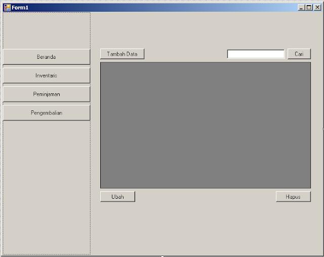 Desain form inventaris pada aplikasi inventaris