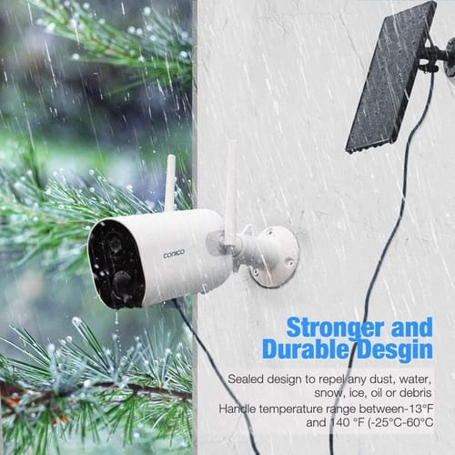 Review Conico ZS-GX5S Solar Outdoor Security Camera
