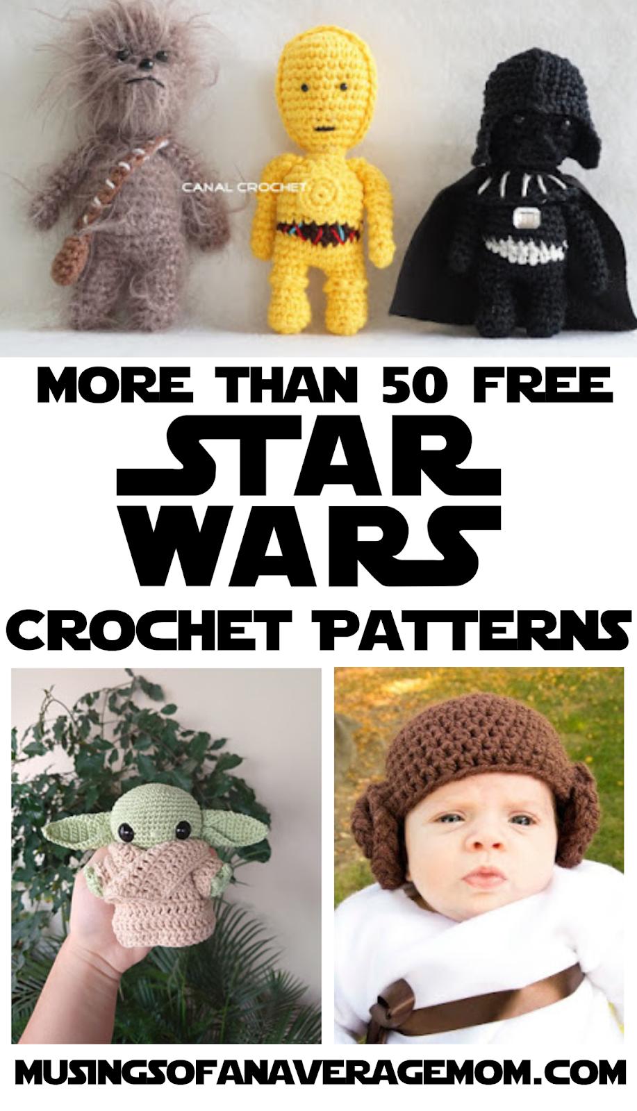 Star Wars Ornaments Free Crochet Patterns | 1600x917