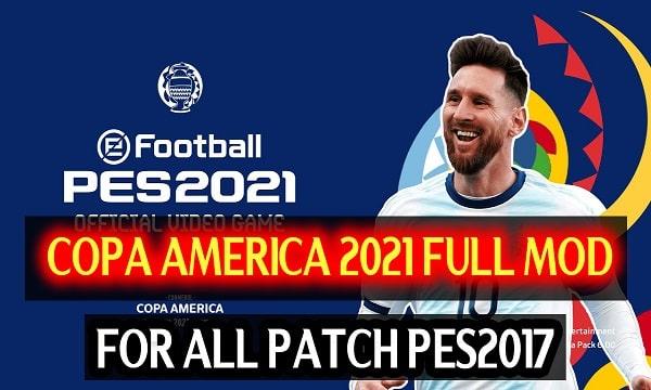 PES 2017 Mod Copa America 2021