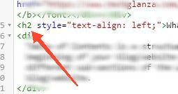 Blogger Headings in HTML view