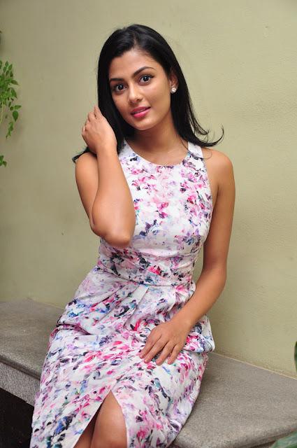 Anisha Ambrose Stills in Floral Dress at Run Movie Gummadikaya Functi