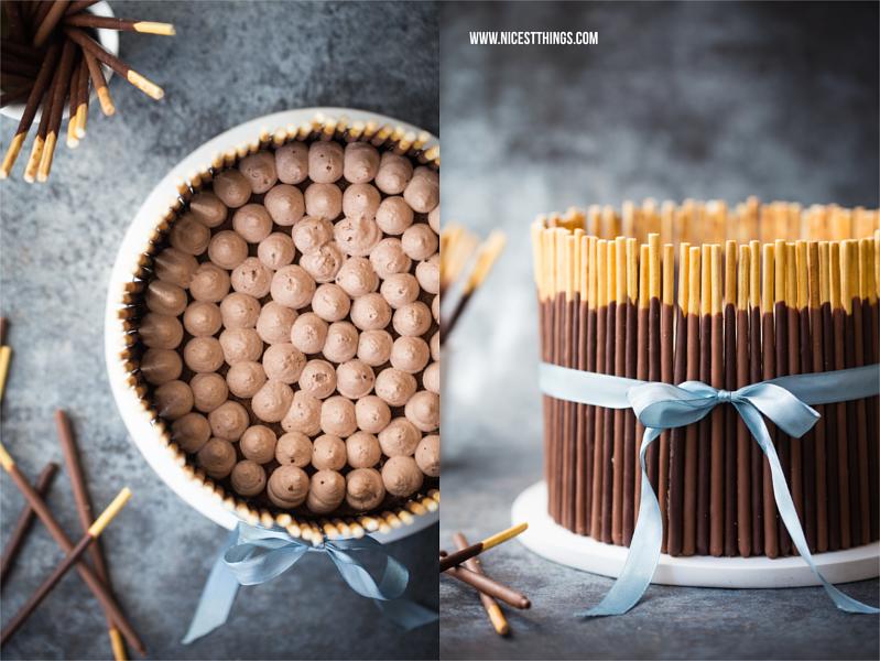 Geburtstagskuchen Mikado Torte mit Schokolade