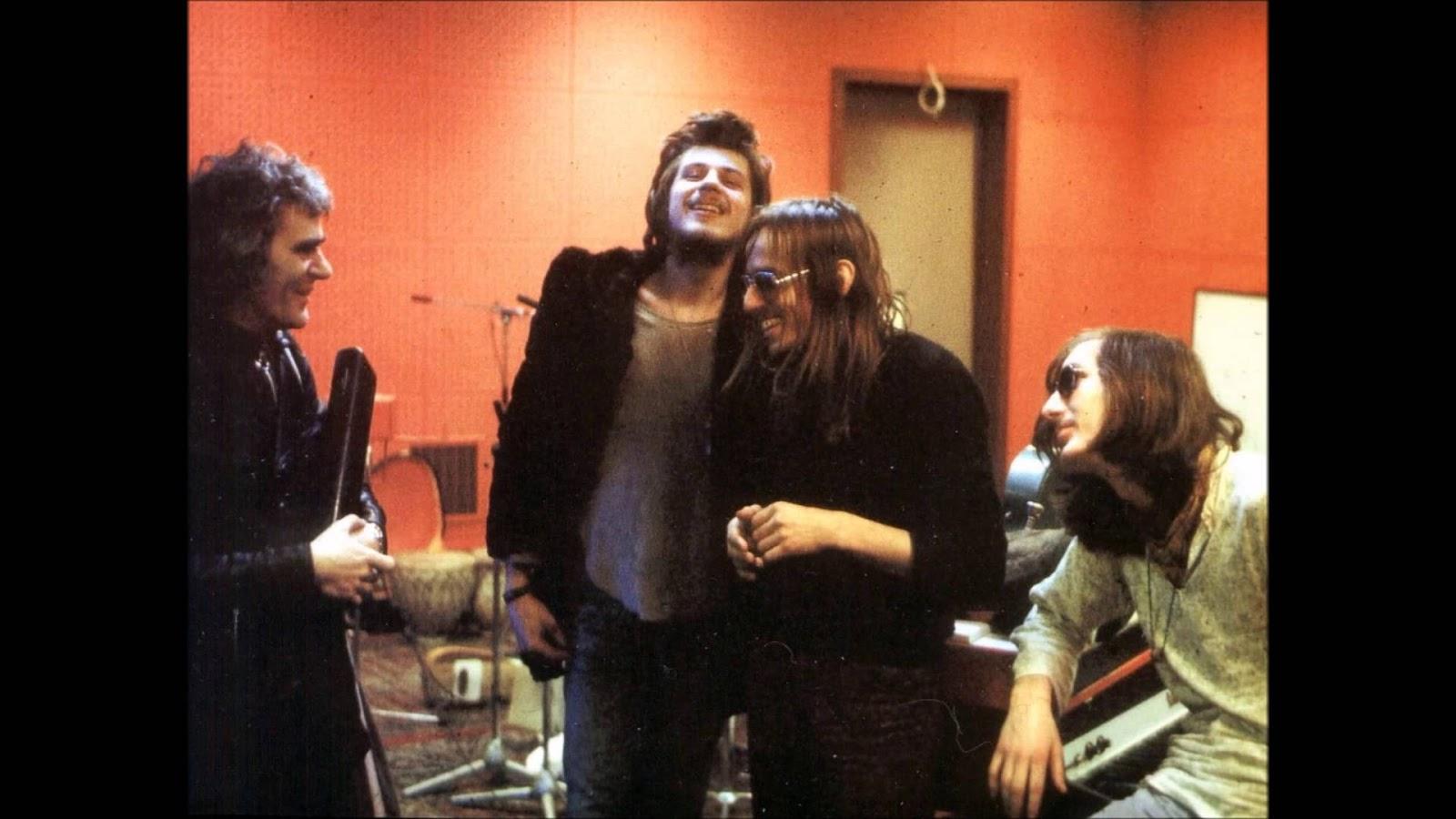 Embryo en el estudio en 1973. Edgar, Roman, Christian y Dave.