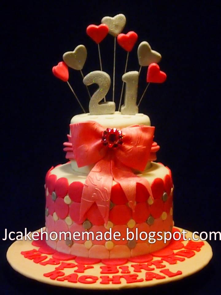Jcakehomemade 21st Birthday Cake