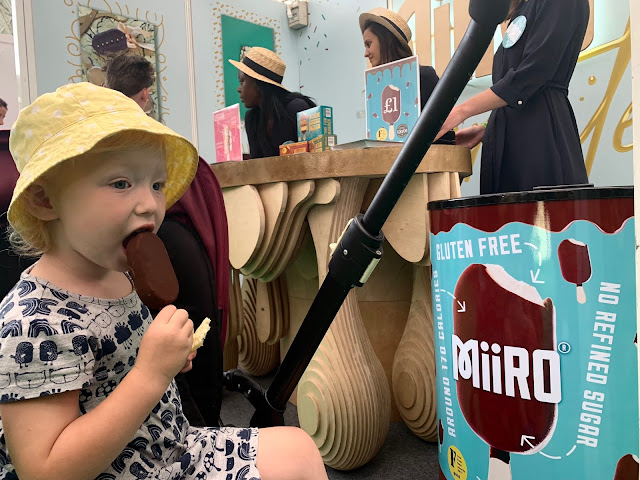 Toddler eating a Miiro icecream