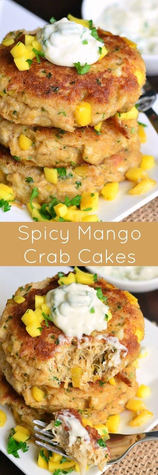 Spicy Mango Crab Cakes