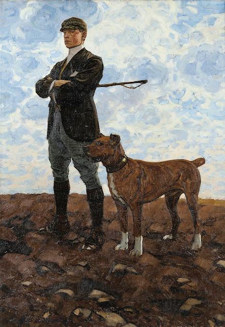 Bernard Boutet de Monvel - Roger with His Mastiff