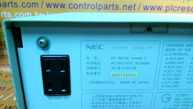 NEC INDUSTRIAL COMPUTER FC-9821X MODEL 1