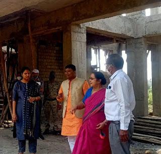 मंत्री रामकिशोर नानो कावरे ने जिला पंचायत के निर्माणाधीन भवन का किया निरीक्षण