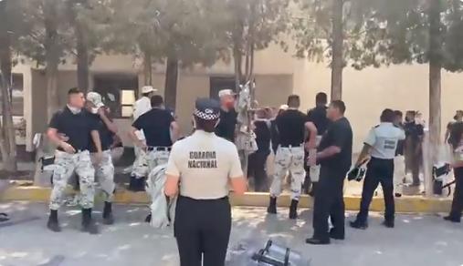 Video: Entrenamiento de Guardias Nacionales se sale de control y terminan a golpes en batalla campal