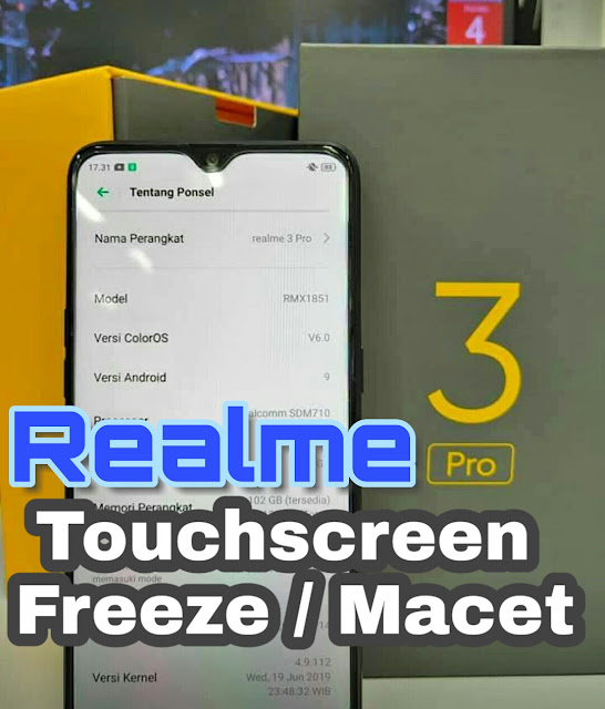 Touchscreen Realme freeze
