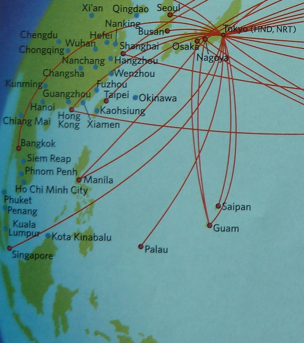 The Timetablist Delta Air Lines The East Asia Pacific