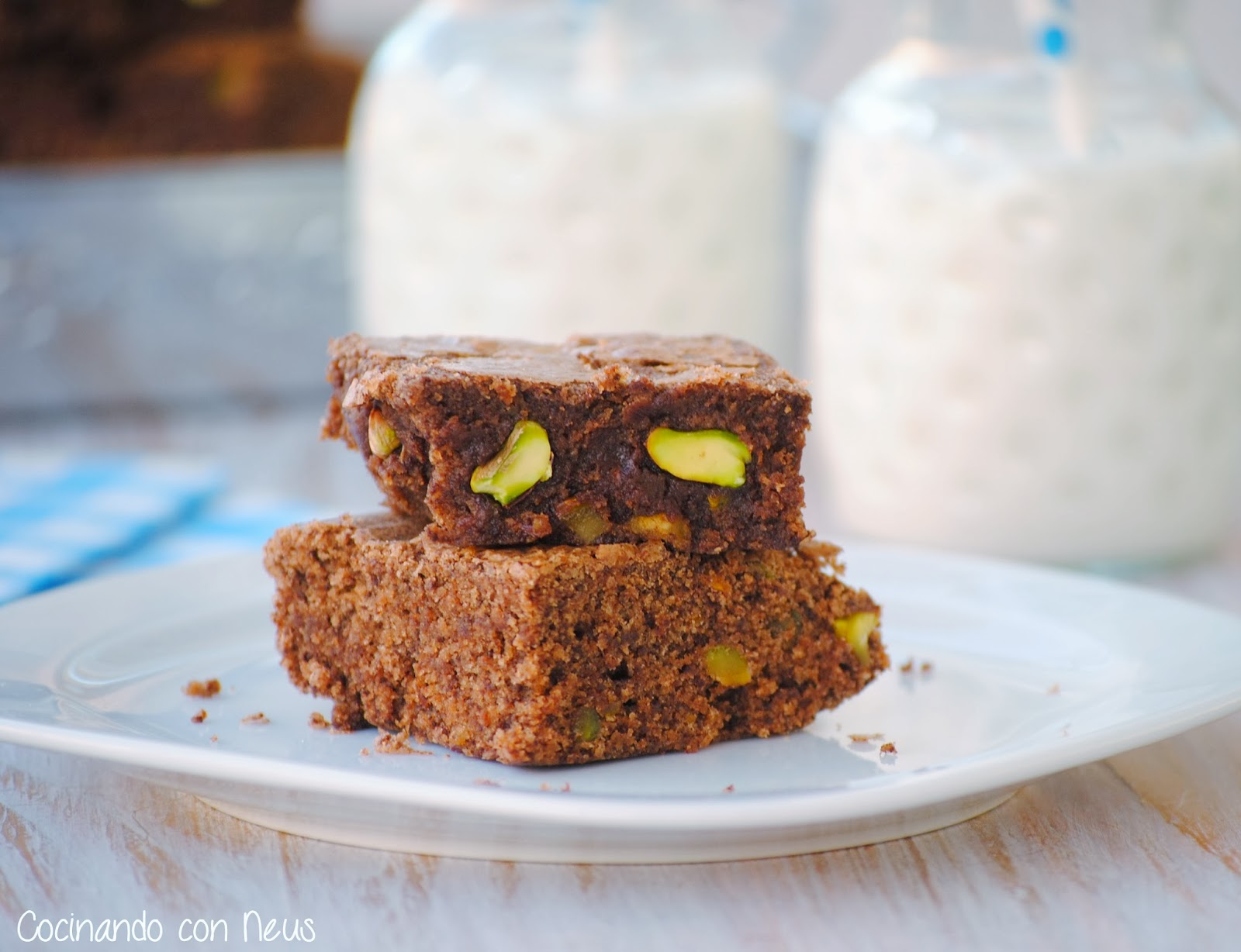 Brownie de pistachos