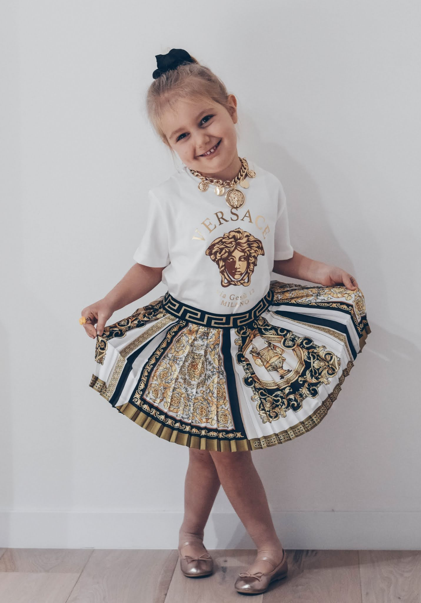 look bambina versace
