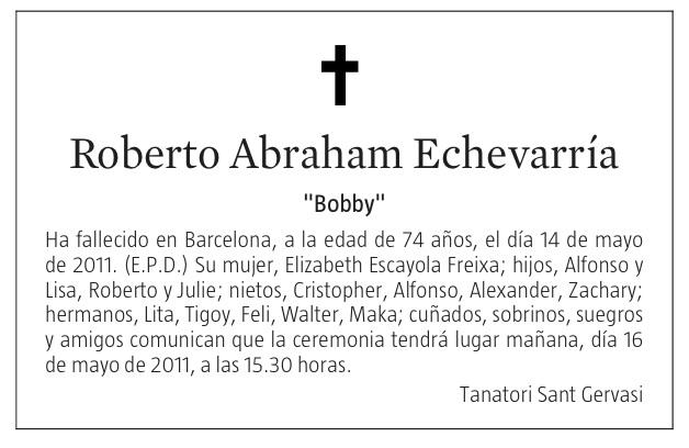 Bobby Abraham, descanse en paz