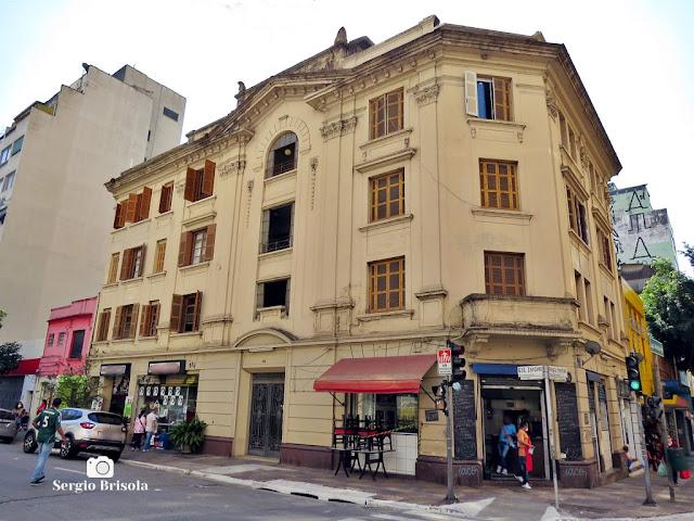 Vista ampla do antigo Edifício Ibicaba - Vila Buarque - São Paulo