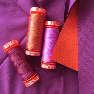 Aurifil thread 50 weight Warm Reception Anna Maria Horner collection cotton